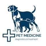 宠物诊所商标 免版税库存图片