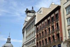审判官席的毕尔巴鄂比斯卡亚是大厦Calle de Alcala, 16,位于马德里,西班牙 在1919年射出 图库摄影