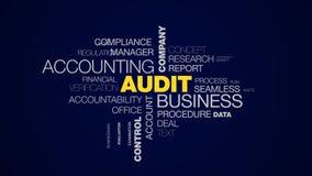审计企业会计公司财务分析服务成功咨询的控制投资给词云彩赋予生命 皇族释放例证