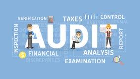 审计概念例证 免版税库存照片