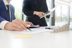 审计概念,簿记员队 免版税图库摄影