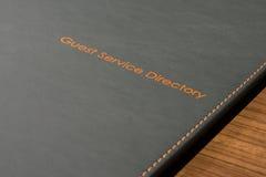 客人服务目录 免版税库存图片