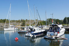 客人港口Landsort斯德哥尔摩群岛 库存图片
