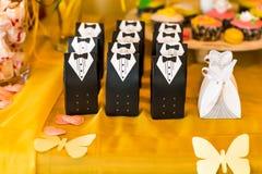 客人的婚礼bonbonniere 免版税库存图片