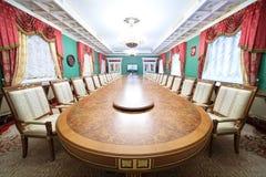 客人附录的绿色霍尔在盛大克里姆林宫宫殿 免版税库存图片