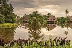 客人水平房,关岛印地安村庄,古巴 免版税库存照片