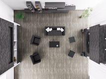 客厅内部顶视图3d回报 向量例证