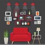 客厅家具想法 库存照片