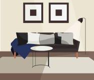 客厅斯堪的纳维亚样式传染媒介设计 库存例证