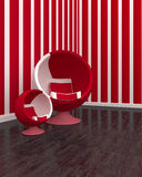 客厅椅子 免版税图库摄影