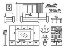 客厅现代家具 免版税库存图片