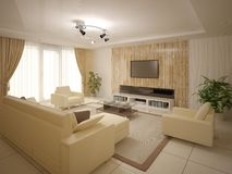 客厅的原始的设计 免版税库存图片