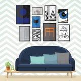 客厅的艺术 免版税库存图片
