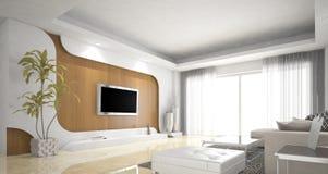 客厅设计,北欧 向量例证