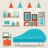 客厅设计 免版税库存照片