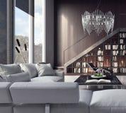 客厅,室内设计 免版税图库摄影