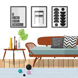 客厅Woodle家具 免版税图库摄影