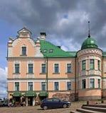 客商的房子在维堡,俄罗斯 免版税库存图片