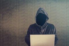 黑客在工作 图库摄影