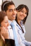 客户代表为小组服务 免版税图库摄影