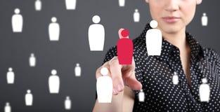 客户关系管理-顾客服务、保留和关心概念 免版税图库摄影