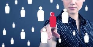 客户关系管理-顾客服务、保留和关心概念 库存图片