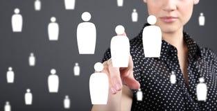 客户关系管理-顾客服务、保留和关心概念 库存照片