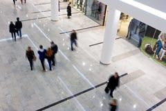 客户冲在商城里面 库存图片
