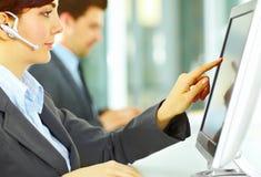 客户办公室运算符技术支持 库存照片