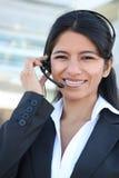 客户印第安服务妇女 免版税库存照片