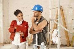 客户和承包商 免版税库存照片