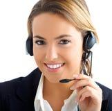 客户女孩服务年轻人 免版税图库摄影