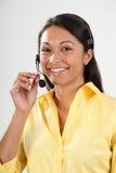 客户女性好招待员服务微笑 图库摄影