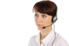 客户女性操作员服务年轻人 免版税库存照片