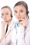 客户女性纵向代表服务 免版税库存照片
