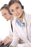 客户女性纵向代表服务 库存图片