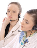 客户女性纵向代表服务 库存照片