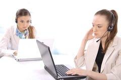 客户女性纵向代表服务 免版税图库摄影