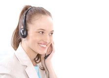 客户女性纵向代表服务 免版税库存图片