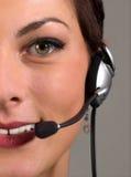 客户服务部年轻人 免版税库存图片