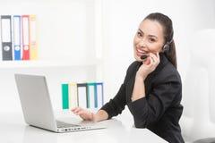 客户服务代表在工作 库存照片
