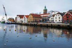 客户港口挪威斯塔万格 库存照片