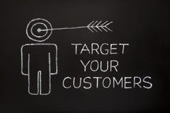 客户瞄准您 免版税库存图片
