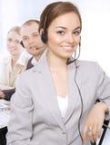客户纵向代表服务 免版税库存图片