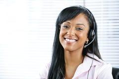 客户耳机有代表性的技术支持 库存图片