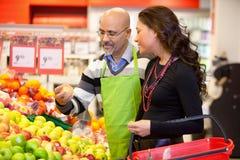 客户菜市场 免版税库存照片