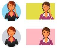 客户运算符微笑的技术支持 免版税库存图片