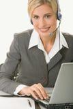 客户运算符技术支持 免版税库存照片
