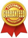 客户金子保证的红色满意度 库存例证