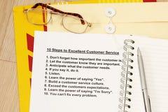 客户非常好的服务第十步 库存图片